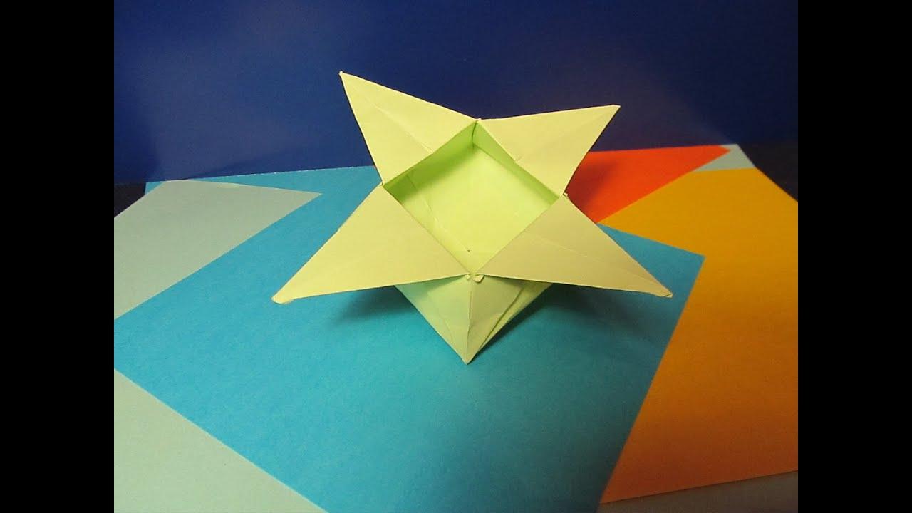КОРОБОЧКА - ЦВЕТОК. Оригами Своими Руками из Бумаги для ...