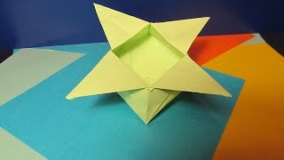 КОРОБОЧКА - ЦВЕТОК. Оригами Своими Руками из Бумаги для Начинающих. Видео(В этом видео я научу Вас делать своими руками оригами для детей - КОРОБОЧКУ - ЦВЕТОК. Эта поделка из бумаги..., 2015-01-25T16:08:09.000Z)