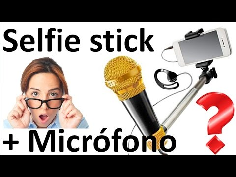 Selfie Stick con Micrófono Incorporado - SelfieMic - KaraokeStick