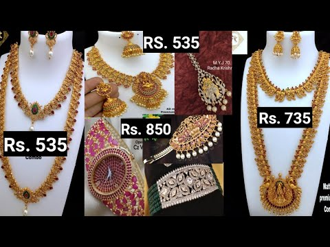 Combo Sets Jewellery Very Low Price / Cz Jewellery / Cz Watches / Matte Finish Hair Pins