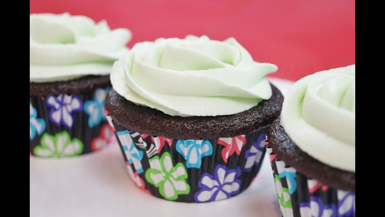 Mint Chocolate Cupcakes Recipe With Mint Buttercream