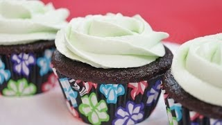 Mint Chocolate Cupcakes Recipe! With Mint Buttercream Frosting - Diane Kometa-dishin' With Di  #132