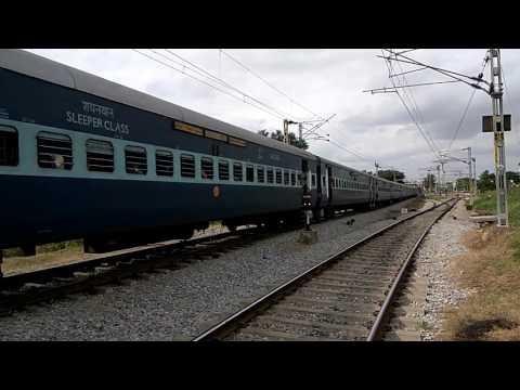 Basava Express approaching Kengeri Station