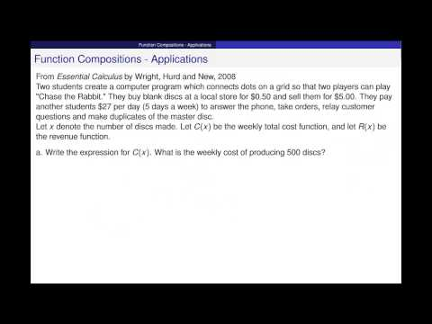 Composition of Functions - Applications
