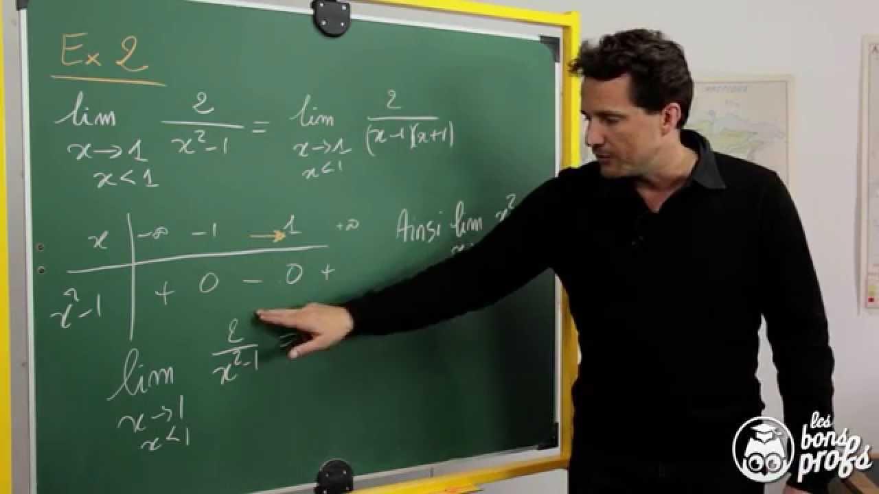 Limites de fonctions - Exercice 2 - Maths terminale - Les Bons Profs - YouTube