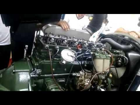 Mercedes-benz OM-366 - первый запуск двигателя - YouTube