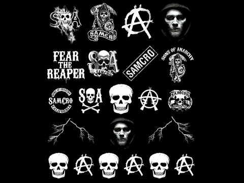 SOA Sons Of Anarchy Nail Art Tutorial - Decals For Your Black Base By Nail Apparel