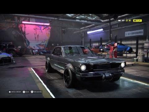 Need For Speed Heat 65 Ford Mustang Customization Youtube