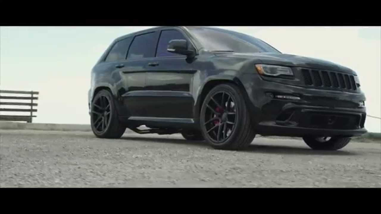 "Jeep Cherokee 2015 >> Jeep Cherokee SRT8 on 22"" Velgen Wheels VMB5 - YouTube"