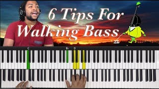 Learn How To Walk Bass to ANY Chord Progression Using These 6 Tips
