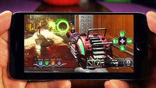 Playing Black Ops 4 Zombies on iPhone…