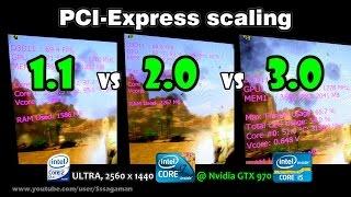 PCI-Express 1.1 vs 2.0 vs 3.0 Scaling on Nvidia GTX 970 [REAL FPS]