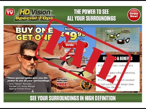 HD Vision Special Ops Glasses: Hot Garbage, As Seen On TV!