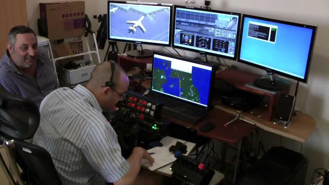 Home Cockpit Fun With Fsx And Vatsim Youtube
