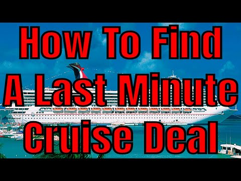 How To Find Last Minute Cruise Ship Deals Finding Cruise Vacation Bargains
