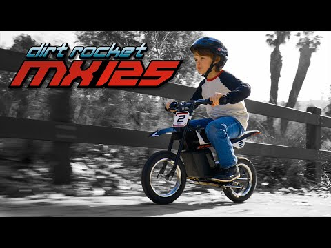Razor MX125 Dirt Rocket Ride Video with Features