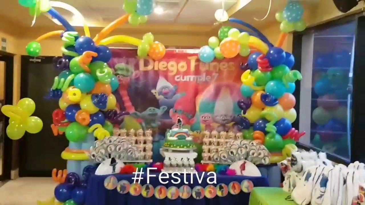 Decoración de Fiesta inspirada en Trolls - Trolls Party   Festiva ...