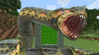 Como Hacer Un Portal A La DimensiÓn De La Anaconda - Minecraft Portales