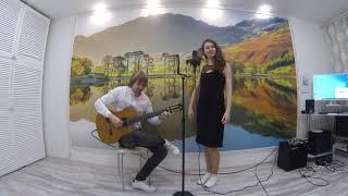 """Песня """"Старый клен"""" исполняет Ижболдин Алексей (гитара) и Клишина Марина (вокал)"""