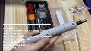3.6V 가정용 무선 전동 미니 스크류 드라이버 충전식…