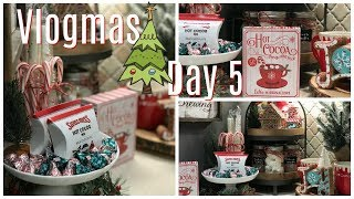 VLOGMAS 2018 | Day 5 | Decorate With Me | Christmas/Holiday Hot Cocoa & Sweets aka SNACKS Bar
