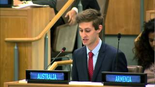 Australian Youth Representative 2013 at the UN General Assembly, New York