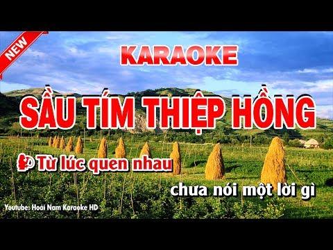 Karaoke Sầu Tím Thiệp Hồng ( Song Ca ) sau tim thiep hong karạoke nhac song