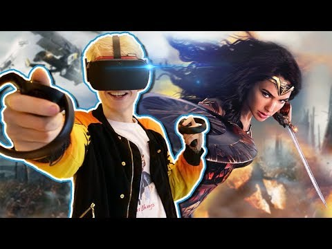 BECOME WONDER WOMAN IN VIRTUAL REALITY! | Justice League VR Experience (Oculus Touch Gameplay)