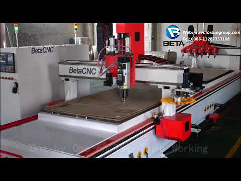 Custom Double Working Table CNC Router with Oscillating ...