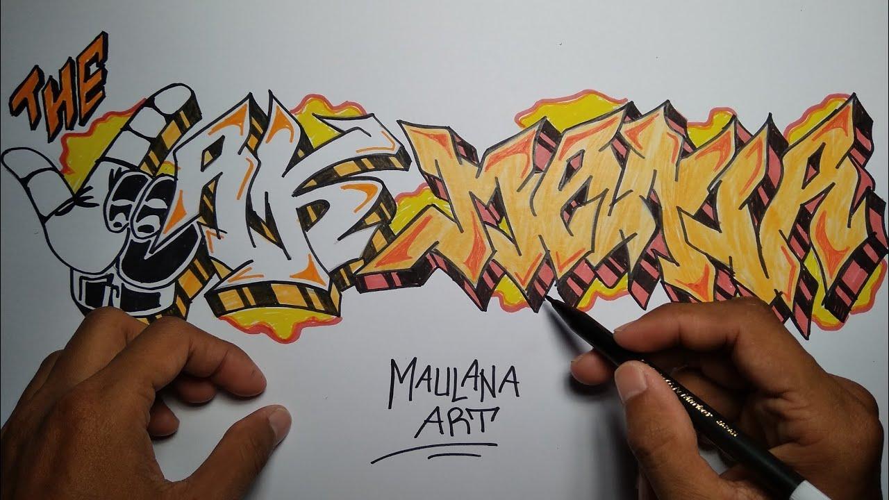 Cara Gambar Grafiti The Jak Mania