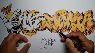 Cara Gambar Grafiti The Jak Mania - Persija Jakarta