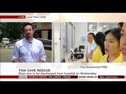 Thailand Wild Boars prepare to meet the media - BBC World Ne