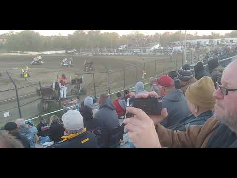ASCS Sprint Cars, Heat 2, Creek County Speedway 10/12/19