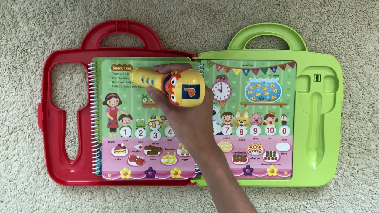 Pororo Little Future Book /& Play Pen Set for Creative Learning and Study