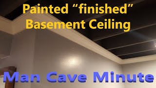 """Cheap """"finished"""" basement ceiling"""