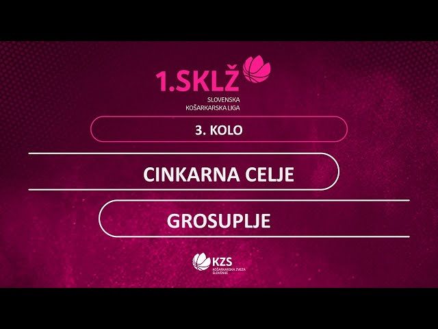 Cinkarna Celje : Grosuplje - 3. kolo - 1. Ž SKL - Sezona 2020/21 - 2/2