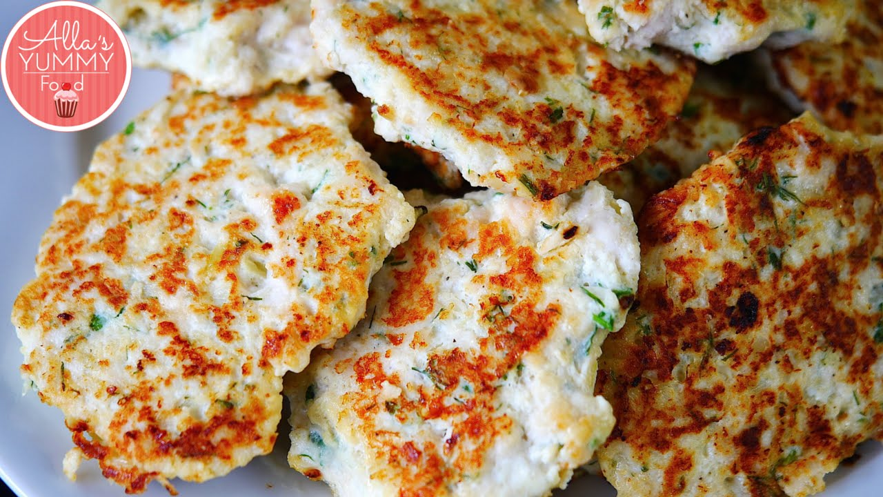 How To Make Healthy Chicken Cutlets (kotleti)  ������ �����