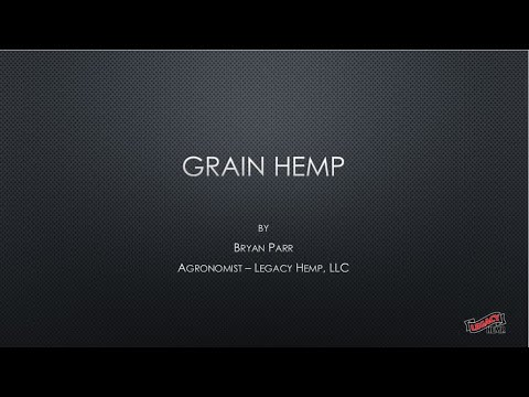 Industrial Hemp Grain Production