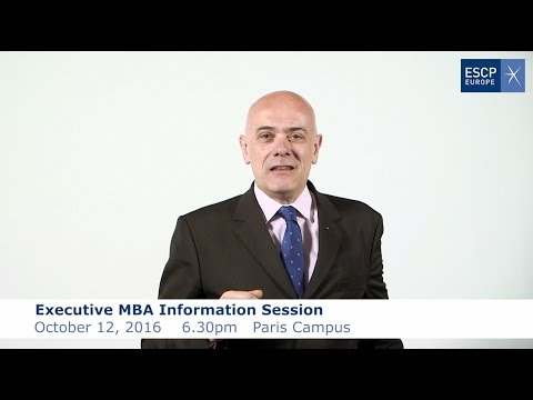 ESCP Europe: Executive MBA Infosession & Masterclass with Prof. Gabilliet