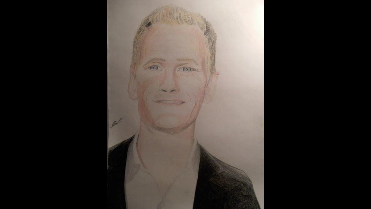 Speed Drawing Neil Patrick Harris Barney Stinson Youtube