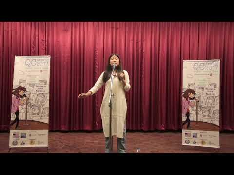 Prashuma Rai, Winner Of QC Awards 2017 Performing Her Poem