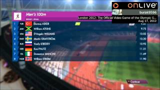 London 2012 Olympic Game - Men 100m, New World Record 9.41