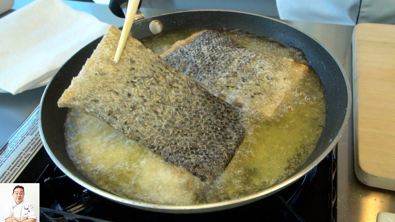 how to make crispy salmon skin sushi