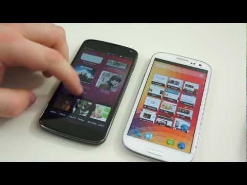Ubuntu for Phones vs Android Jelly Bean Comparison