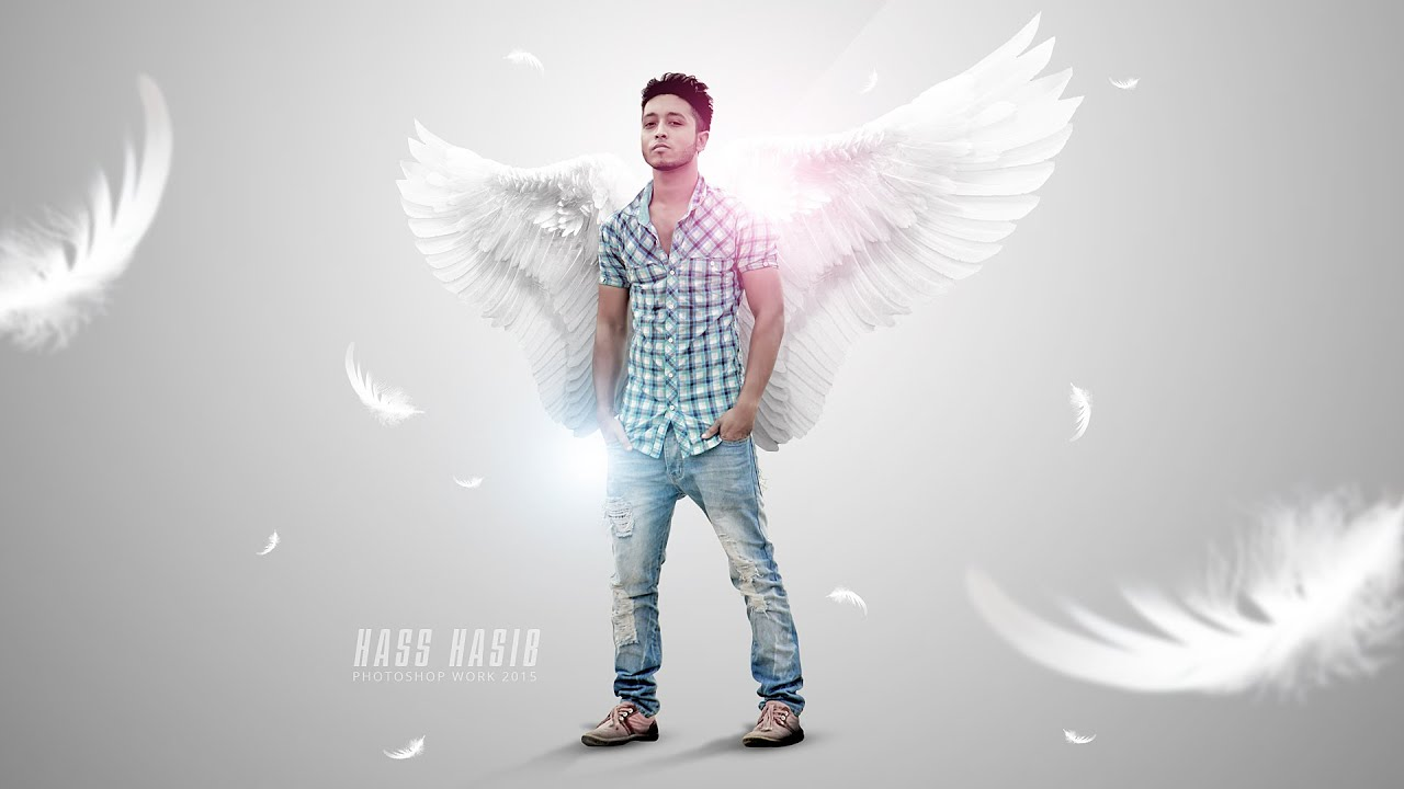 White wings boy photo manipulation tutorial photoshop cc white wings boy photo manipulation tutorial photoshop cc tutorial youtube baditri Images
