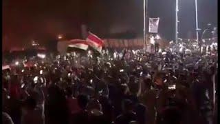 العراق: مشاهد من تظاهرات العراقيين في البصرة هذا المساء