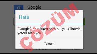 ÇÖZÜM ► Android Cihazda Yeterli Alan Yok Uyarısı