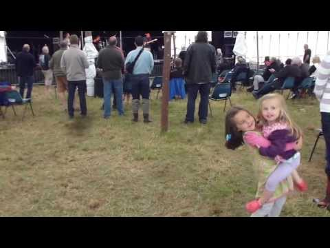 mia and zoe getting down to the bushman brothers at blues on the farm 2013