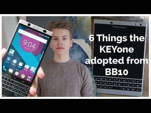 6 THINGS THE BlackBerry KEYone adopted from BB10