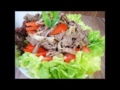 Thịt Bò xào - Bí quyết xào thịt Bò và Bắp Bò Gân (Beef Shank) không bị dai by Vành Khuyên